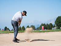 Erik Van Rooyen (RSA) from the bunker on the 17th holeduring second round at the Omega European Masters, Golf Club Crans-sur-Sierre, Crans-Montana, Valais, Switzerland. 30/08/19.<br /> Picture Stefano DiMaria / Golffile.ie<br /> <br /> All photo usage must carry mandatory copyright credit (© Golffile | Stefano DiMaria)