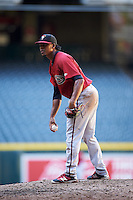 Arizona Diamondbacks pitcher Julio Perez (12) during an Instructional League game against the Oakland Athletics on October 15, 2016 at Chase Field in Phoenix, Arizona.  (Mike Janes/Four Seam Images)
