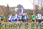 Bryan O'Sullivan gets the break at the Munster Junior League (Div 1) Tralee RFC v Mallow RFC at O'Dowd Park on Sunday