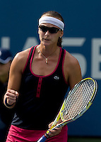 Yaroslava Shvedova (KAZ) against Jelena Jankovic (SRB) (5) in the second round. Shvedova beat Jankovic 6-3 6-7 7-6 ..International Tennis - US Open - Day 3 Wed 02 Sep 2009 - USTA Billie Jean King National Tennis Center - Flushing - New York - USA ..© Frey, Advantage Media Network, Level 1, Barry House, 20-22 Worple Road, London, SW19 4DH +44 208 947 0100..