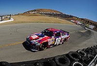 Jun. 21, 2009; Sonoma, CA, USA; NASCAR Sprint Cup Series driver Kyle Busch during the SaveMart 350 at Infineon Raceway. Mandatory Credit: Mark J. Rebilas-