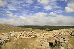 Israel, Shephelah, Burial cave in Hurvat Rimon, site of an ancient Jewish village
