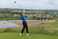 Robin Dawson (Tramore) on the 9th tee during Matchplay Round 1 of the South of Ireland Amateur Open Championship at LaHinch Golf Club on Friday 22nd July 2016.<br /> Picture:  Golffile | Thos Caffrey<br /> <br /> All photos usage must carry mandatory copyright credit   (© Golffile | Thos Caffrey)