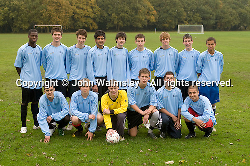 Football team photo.  Further Education College.