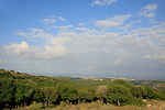 Israel, Upper Galilee. A view towards the Mediterranean sea from Meelia-Manot scenic road