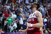 7th September 2017, Fenerbahce Arena, Istanbul, Turkey; FIBA Eurobasket Group D; Latvia versus Turkey; Center Semih Erden of Turkey reacts