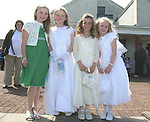 Lucy Murray, Ella Carthy, Dearbhla Mulligan and Amy Murray at the Donacarney First Holy Communion...Photo NEWSFILE/Jenny Matthews.(Photo credit should read Jenny Matthews/NEWSFILE)....This Picture has been sent you under the condtions enclosed by:.Newsfile Ltd..The Studio,.Millmount Abbey,.Drogheda,.Co Meath..Ireland..Tel: +353(0)41-9871240.Fax: +353(0)41-9871260.GSM: +353(0)86-2500958.email: pictures@newsfile.ie.www.newsfile.ie.FTP: 193.120.102.198.