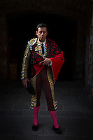 Portrait of bullfighter Cesar Montes in the former bullfighting ring at the Quinta Real Hotel in Zacatecas, Mexico