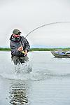 Fly fishing at Reel Action in Alaska 2014