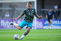 Barrie McKay of Swansea City during the pre-match warm-up for the pre season friendly match between Exeter City and Swansea City at St James Park in Exeter, England, UK. Saturday, 20 July 2019