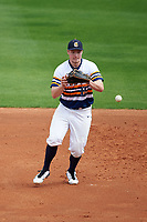 Canisius College Golden Griffins first baseman Ryan Stekl (15) fields a ball during the first game of a doubleheader against the Michigan Wolverines on February 20, 2016 at Tradition Field in St. Lucie, Florida.  Michigan defeated Canisius 6-2.  (Mike Janes/Four Seam Images)
