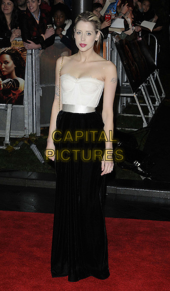 LONDON, ENGLAND - NOVEMBER 11: Peaches Geldof attends the UK premiere of 'The Hunger Games: Catching Fire' at Odeon Leicester Square on November 11, 2013 in London, England<br /> CAP/CAN<br /> &copy;Can Nguyen/Capital Pictures