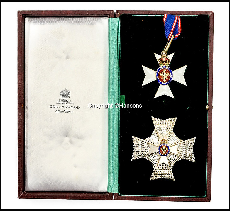 BNPS.co.uk (01202 558833)<br /> Pic: Hansons/BNPS<br /> <br /> Colonel Sir Peter Hilton's cased Knights Commanders Victorian Order<br /> <br /> An impressive group of Second World War medals awarded to a remarkable husband and wife have emerged for auction and are tipped to sell for &pound;10,000.<br /> <br /> Courageous Colonel Sir Peter Hilton was one of only 25 men to be awarded the Military Cross three times, while his wife Lady Winifred was a member of the Women's Auxillary Air Force who worked in special operations on radar, decoding and cyphers in Liverpool and Belfast.<br /> <br /> The supercouple - who amassed a staggering 19 medals between them - met in 1940 when Sir Peter was billeted in Matlock, Derbyshire, after being evacuated from Dunkirk. They got married two years later.