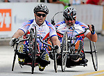 May 28, 2012: Wounded Warrior, Helman Roman (left), competes in the 2012 U.S. Handcycling Criterium National Championships, Greenville, SC.