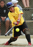 Wellington's Hope Weber during round two of the National Women's Softball Championships at Hataitai Park, Wellington, NewZealand on Sunday 2 February 2009. Photo: Dave Lintott / lintottphoto.co.nz