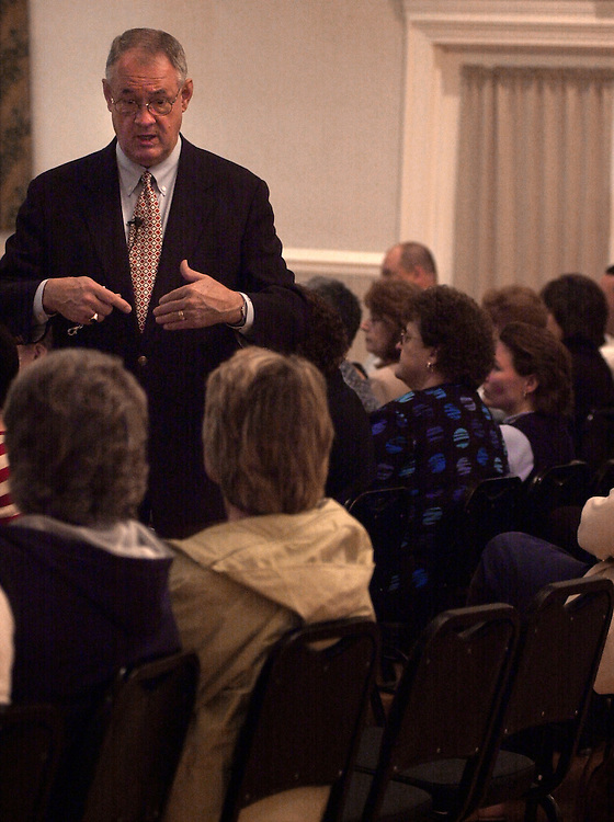 Pres. Glidden speaking about the Budget at Baker Center: photos by Krisanne Johnson