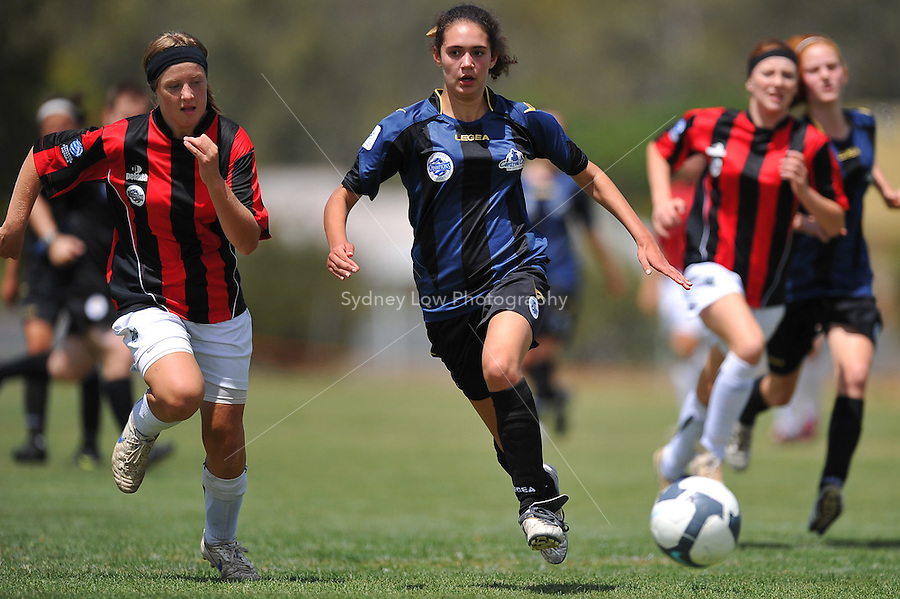MELBOURNE, AUSTRALIA - November 28: Round 10 of the Victorian Champions League between Central City FC and Loddon Mallee Lightning at Moama Sports Club on 6 December 2009, Australia. Photo Sydney Low www.syd-low.com