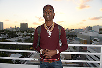 MIAMI BEACH, FL - OCTOBER 05: Young Dolph poses for a portrait during the Empire Records DJ party held at Skydeck on October 5, 2018 in Miami Beach, Florida. <br /> CAP/MPI04<br /> &copy;MPI04/Capital Pictures