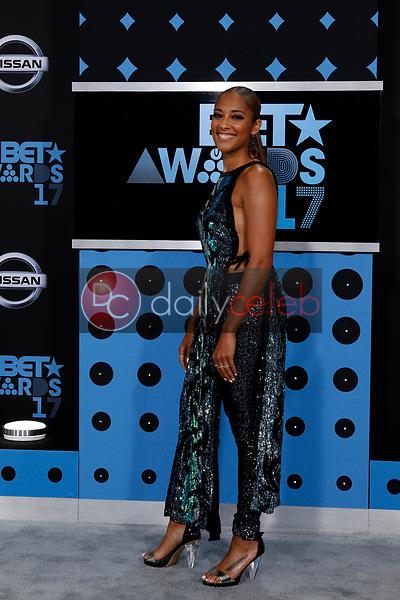 Amanda Seales<br /> at the BET Awards 2017, Microsoft Theater, Los Angeles, CA 06-25-17<br /> David Edwards/DailyCeleb.com 818-249-4998