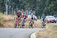the early breakaway group with Michael Schar (SUI/CCC), Quinten Hermans (BEL/Circus - Wanty Gobert), Brent Van Moer (BEL/Lotto-Soudal), Niccolo Bonifazio (ITA/Total Direct Energie) & Tom-Jelte Slagter (NED/B&B Hotels - Vital Concept)<br /> <br /> Stage 1: Clermont-Ferrand to Saint-Christo-en-Jarez (218km)<br /> 72st Critérium du Dauphiné 2020 (2.UWT)<br /> <br /> ©kramon