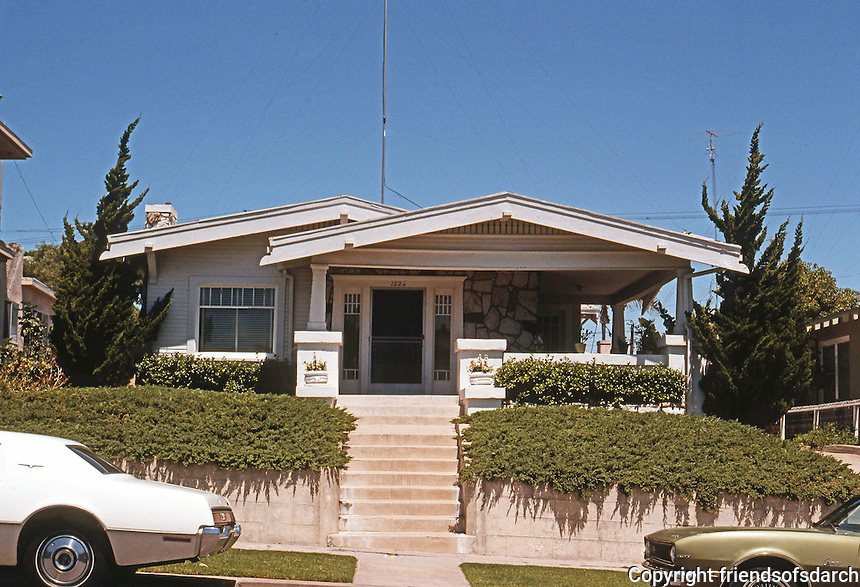 San Diego: California bungalow style house, circa 1915-20.  Photo '78.
