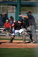 Connor Donohue (20) of Missoula, Montana during the Baseball Factory All-America Pre-Season Tournament, powered by Under Armour, on January 13, 2018 at Sloan Park Complex in Mesa, Arizona.  (Mike Janes/Four Seam Images)