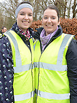 Aoife and Sinead Walsh who took part in the 5k walk/run from An Grianan in aid of St Mary's special school Drumcar. Photo:Colin Bell/pressphotos.ie