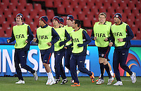 USA players during training at Ellis Park, Johannesburg on June 27, 2009 in preparation for the FIFA Confederations Cup Final against Brazil.