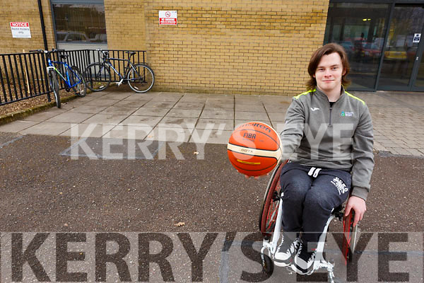 Kerry College of Further Education student Robbie O'Sullivan who will be participating in the upcoming Wheelchair Basketball competition.