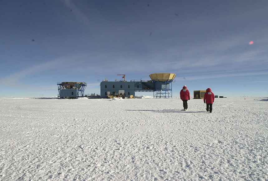 The Martin A. Pomerantz Observatory at Amundsen Scott South Pole Station, Antarctica. It is the center for ground-breaking astrophysics research.