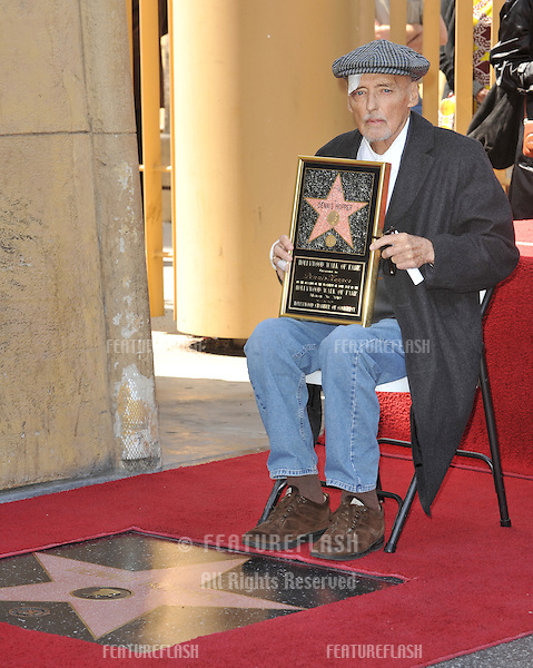Actor Dennis Hopper on Hollywood Boulevard where he was honored with the 2,403rd star on the Hollywood Walk of Fame..March 26, 2010  Los Angeles, CA.Picture: Paul Smith / Featureflash
