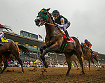 ARCADIA, CA - MARCH 10: Bolt d'Oro battles for position early in the San Felipe Stakes at Santa Anita Park on March 10, 2018 in Arcadia, California.(Photo by Alex Evers/Eclipse Sportswire/Getty Images)