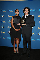 BEVERLY HILLS, CA - FEBRUARY 3: Aisha Tyler and Brian Smith in the press room at the 70th Annual DGA Awards at The Beverly Hilton Hotel in Beverly Hills, California on February 3, 2018. <br /> CAP/MPI/FS<br /> &copy;FS/MPI/Capital Pictures