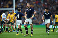 David Denton of Scotland looks on during a break in play. Rugby World Cup Quarter Final between Australia and Scotland on October 18, 2015 at Twickenham Stadium in London, England. Photo by: Patrick Khachfe / Onside Images