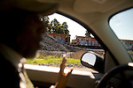 Matt Henry, representative of the Bell Haven homeowners association, gives an informal tour of the the Bell Haven neighborhood, where Facebook will move to, in Menlo Park, Ca., on Tuesday, Feb. 22, 2011. Mr. Henry believes that the Facebook move might help upgrade certain needs of the neighborhood, such as expanding a private school and adding trees along Chilco St..