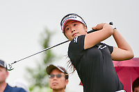 Jeong Eun Lee (KOR) watches her tee shot on 16 during Friday's second round of the 72nd U.S. Women's Open Championship, at Trump National Golf Club, Bedminster, New Jersey. 7/14/2017.<br /> Picture: Golffile | Ken Murray<br /> <br /> <br /> All photo usage must carry mandatory copyright credit (&copy; Golffile | Ken Murray)