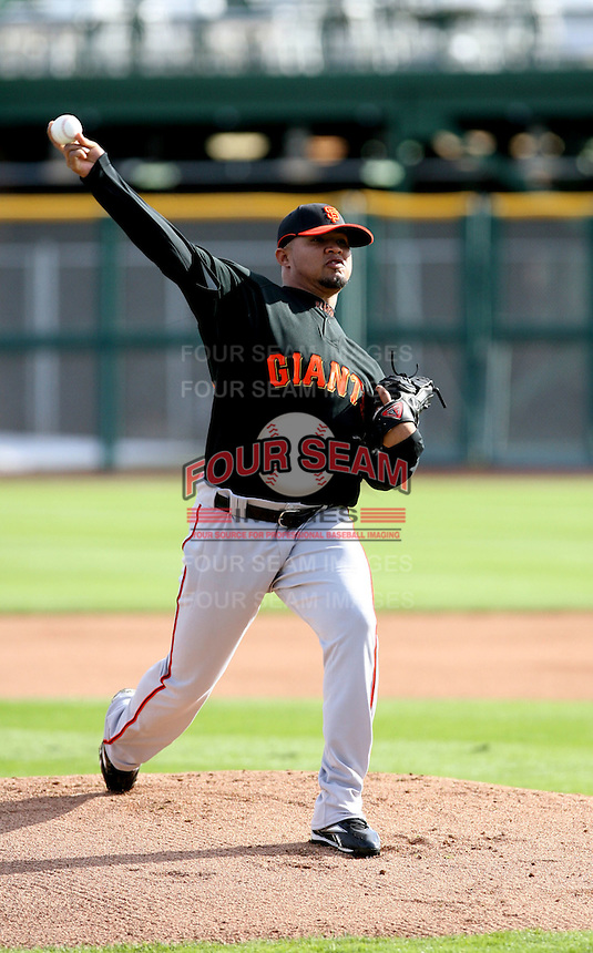 Kelvin Pichardo - San Francisco Giants - 2009 spring training.Photo by:  Bill Mitchell/Four Seam Images