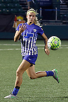 Rochester, NY - Friday May 27, 2016: Boston Breakers defender Christen Westphal (21). The Western New York Flash defeated the Boston Breakers 4-0 during a regular season National Women's Soccer League (NWSL) match at Rochester Rhinos Stadium.