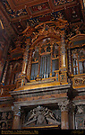 Transept Organ over Side Door Luca Blasi 1598 Angels Cherubs Giovanni Battista Montano Aldobrandini Papal Shield Angels Giovanni Antonio Paracca il Vasoldo St John in Lateran Rome