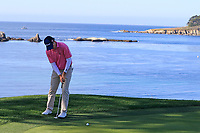 Kevin Streelman (USA) takes birdie putt at the 5th green during Sunday's Final Round of the 2018 AT&amp;T Pebble Beach Pro-Am, held on Pebble Beach Golf Course, Monterey,  California, USA. 11th February 2018.<br /> Picture: Eoin Clarke | Golffile<br /> <br /> <br /> All photos usage must carry mandatory copyright credit (&copy; Golffile | Eoin Clarke)