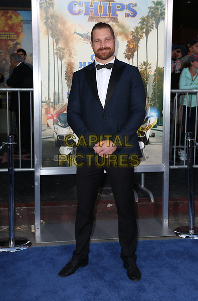 HOLLYWOOD, CA - March 20: Charlie Curtis, At Premiere Of Warner Bros. Pictures' &quot;CHiPS&quot; At TCL Chinese Theatre In California on March 20, 2017.<br /> CAP/MPI/FS<br /> &copy;FS/MPI/Capital Pictures