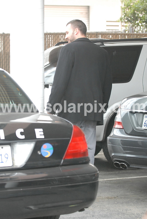 **ALL ROUND PICTURES FROM SOLARPIX.COM**.**WORLDWIDE SYNDICATION RIGHTS**.**NO PUBLICATION IN AUSTRALIA, NEW ZEALAND, DENMARK, GERMANY OR USA**.Ben Affleck is surprised to see a Police cruiser blocking his own car outside the nursery in Santa Monica where he takes his daughter Violet Anne, that he fathered with fellow actor Jennifer Garner. Santa Monica, California, USA. 4th December 2008..JOB REF: 8085 LAP (NBAS)      DATE: 04_12_2008.**MUST CREDIT SOLARPIX.COM OR DOUBLE FEE WILL BE CHARGED* *ONLINE USAGE FEE £50.00 PER PICTURE - NOTIFICATION OF USAGE TO PHOTO@SOLARPIX.COM*