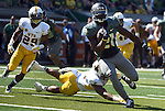 Oregon running back Royce Freeman (21) runs for a touchdown during the third quarter of the college football game against the Wyoming at Autzen Stadium on Saturday, Sept. 13, 2014 in Eugene, Ore. (AP Photo/Steve Dykes)