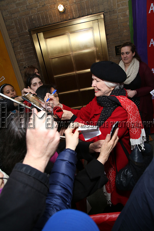 Ellen Burstyn, signing autographs, attending the Broadway Opening Night performance of 'Amelie' at the Walter Kerr Theatre on April 3, 2017 in New York City