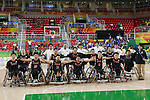 Japan team group (JPN),<br /> SEPTEMBER 15, 2016 - Wheelchair Basketball : <br /> 9th place match between Japan 65-52 Iran<br /> at Rio Olympic Arena<br /> during the Rio 2016 Paralympic Games in Rio de Janeiro, Brazil.<br /> (Photo by Shingo Ito/AFLO)