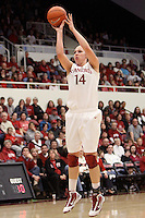 STANFORD, CA - FEBRUARY 7:  Kayla Pedersen of the Stanford Cardinal during Stanford's 77-39 win over USC on February 7, 2010 at Maples Pavilion in Stanford, California.