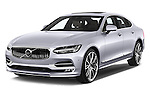 2017 Volvo S90 Inscription 4 Door Sedan Angular Front stock photos of front three quarter view