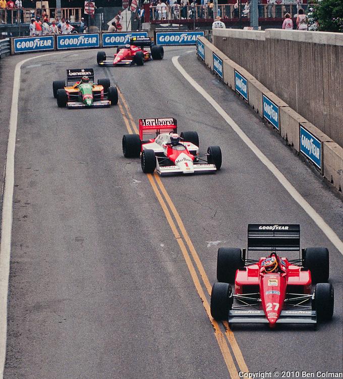 Alboreto, Prost, Boutsen, Berger, Detroit 1987