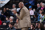 Wake Forest Demon Deacons head coach Danny Manning claps his hands as he encourages his team during second half action against the Richmond Spiders at the LJVM Coliseum on December 2, 2017 in Winston-Salem, North Carolina.  The Demon Deacons defeated the Spiders 82-53.  (Brian Westerholt/Sports On Film)