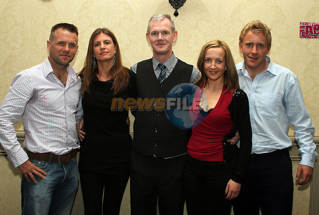 Gerard Fay with friends from Bootcamp Ireland Paul Mulready, Linda Maloney, Karen Quinn and James Gibbons at his 40th in the Westcourt Hotel...(Photo credit should read www.newsfile.ie)....This Picture has been sent you under the conditions enclosed by:.Newsfile Ltd..The Studio,.Millmount Abbey,.Drogheda,.Co Meath..Ireland..Tel: +353(0)41-9871240.Fax: +353(0)41-9871260.GSM: +353(0)86-2500958.email: pictures@newsfile.ie.www.newsfile.ie.